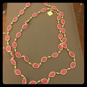 Kendra Scott hit pink long necklace